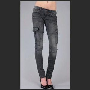 Rock by Rock Revival Aylin Cargo Moto Skinny Jeans